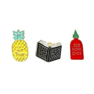Jewelry - 3 Piece Enamel Pin Set